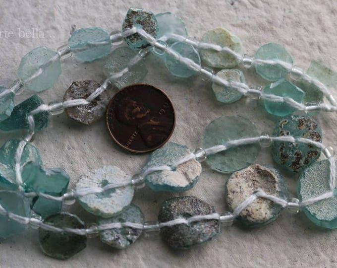 ANCIENT ROMAN GLASS No. 292 .. Genuine Antique Roman Glass Fragment Beads (rg-292)