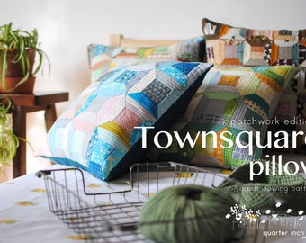 Townsquare Pillow Sewing Pattern-PDF pattern