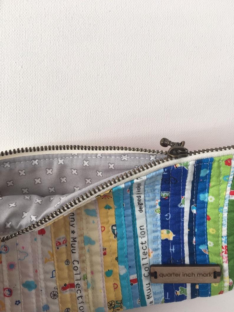 Scrappy Patchwork Style Zippered Pouch mumu