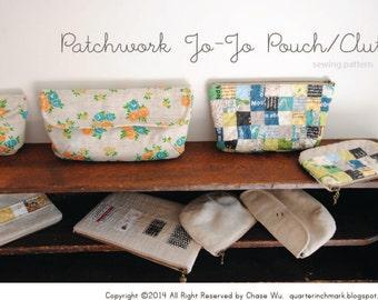 Patchwork Jo Jo Pouch/Clutch PDF Sewing Pattern