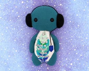 Lyrics doll Gabriel - Lamb, handmade art toy, great gift for music lovers, music room decor