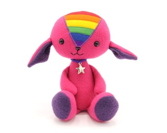LGBTQ pride doll with rainbow flag, coming out gift