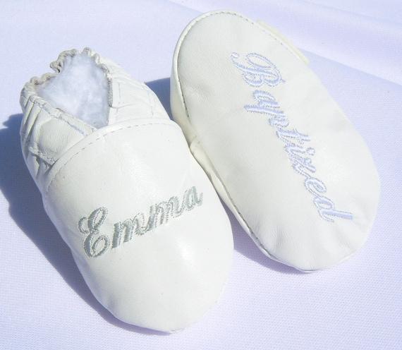 Mädchen Taufe Babyschuhe Baby Junge Taufe Schuhe Leder Weiss Taufe Schuhe Weiß Taufe Schuhe Personalisierte Taufe Schuhe