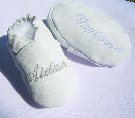 Mädchen Taufe Babyschuhe Baby Junge Taufe Schuhe Alle Leder Weiss Taufe Schuhe Weiß Taufe Schuhe Personalisierte Taufe Schuhe