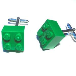 r Bricks Lime Brick Cufflinks Handmade with LEGO