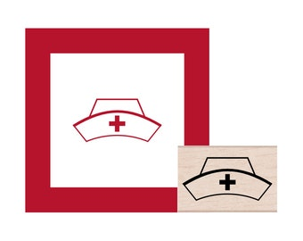 Occupation Medical Nurse Woman Icon Rubber Stamp for Stamping Crafting Planners