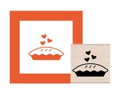 Baked with Love Pie Rubber Stamp