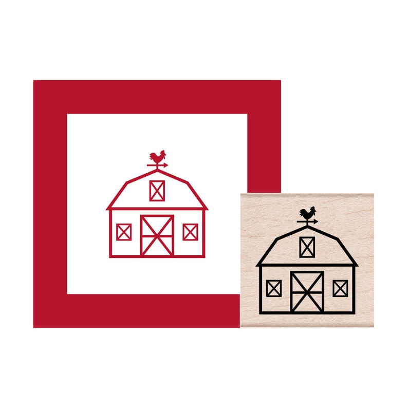 Barn Rubber Stamp
