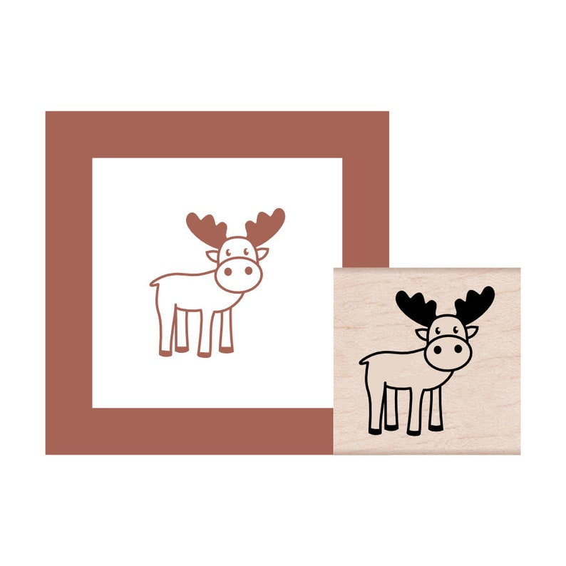 NEW for 2019 Moose Rubber Stamp