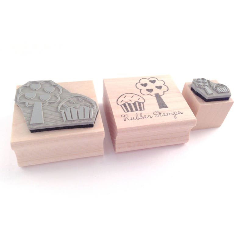 Flower Owl Rubber Stamp with Personalization