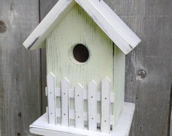 Cedar Birdhouse Outdoor Handmade in USA. One of a Kind.