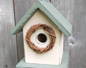 Birdhouse Outdoor Handmade in USA. One of a Kind.