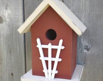 Birdhouse Trellis Outdoor Handmade in USA. One of a Kind.