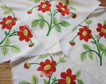 four sections of vintage embroidered remnant reserved