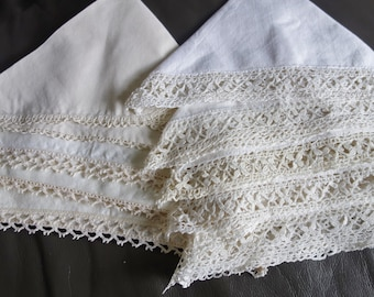 9 lace edged napkins10x10 inches