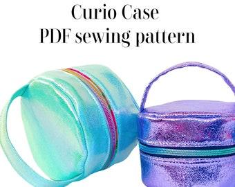 Curio Case round zipper pouch PDF sewing pattern