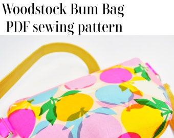 Woodstock Bag sewing pattern PDF