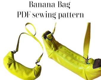 Banana Bag PDF sewing pattern with video