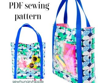 Essentials Tote / PDF sewing pattern / Large Tote sewing pattern