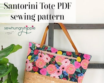 Santorini Tote PDF sewing pattern with video