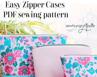 Easy Zipper Cases PDF Sewing Pattern with video