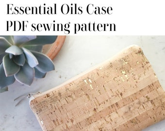 Essential Oils Case PDF sewing pattern with video