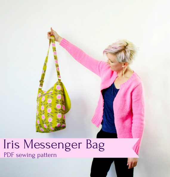 IRIS Messenger Bag PDF sewing pattern | Etsy