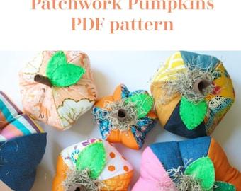 Patchwork Pumpkins PDF sewing pattern 3 sizes