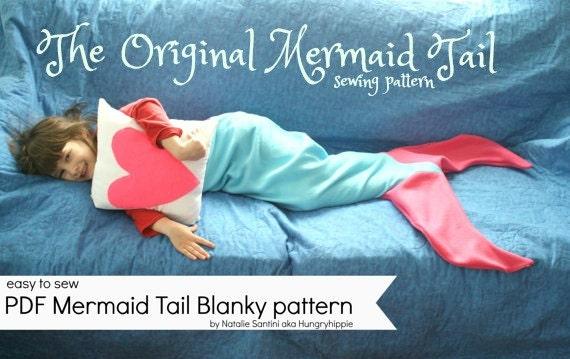 Mermaid Tail Blanket Pdf Sewing Pattern Download For Kids Etsy