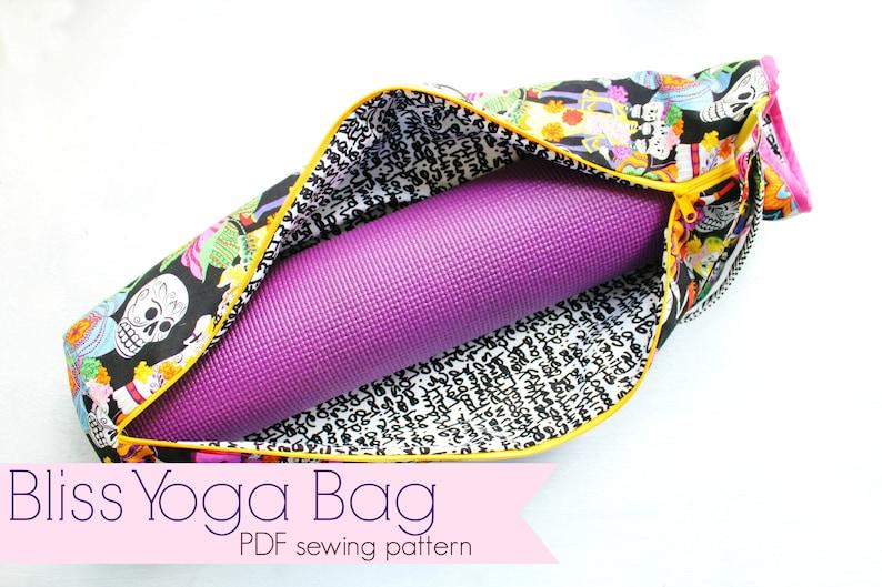Bliss Yoga Bag PDF SEWING pattern / yoga bag sewing pattern / image 0