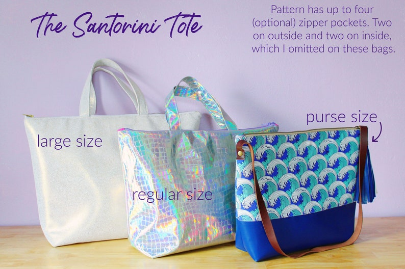Santorini Tote PDF instant download sewing pattern bag  9a7964eccc2a6