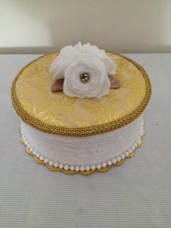 CUSTOM Floral Basket Faux Fake Cake Gift Box