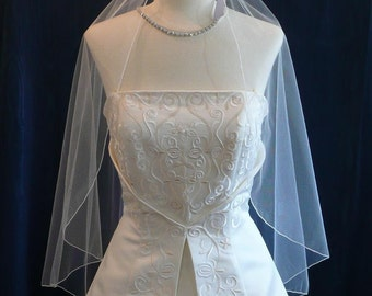 Fingertip length Cascading Angel style wedding veil  Sale