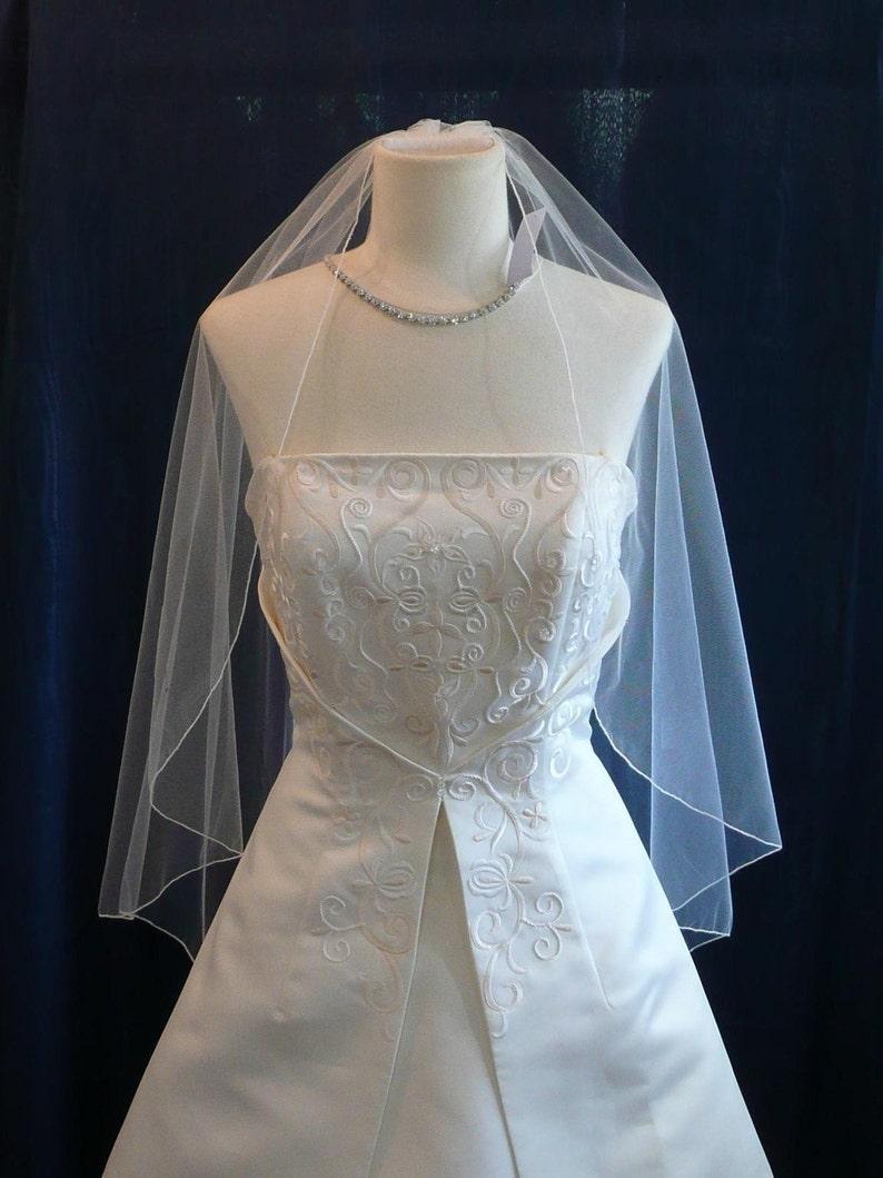 Fingertip length Cascading Angel style wedding veil  Sale Matching Pencil Edge