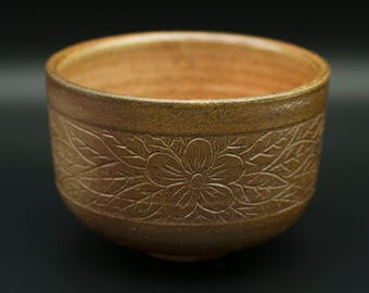 Salt-Fired Japanese Tea Bowl (matcha chawan)