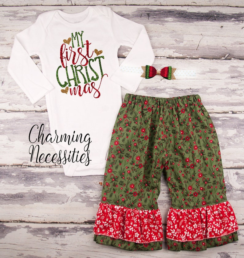 Baby Girl Christmas Outfit Toddler Girl Clothes Christmas  a1f01797e