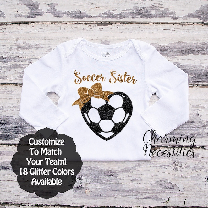 5e481bb50f6c Soccer Sister Shirt LS Fan Toddler Clothes Baby Girl