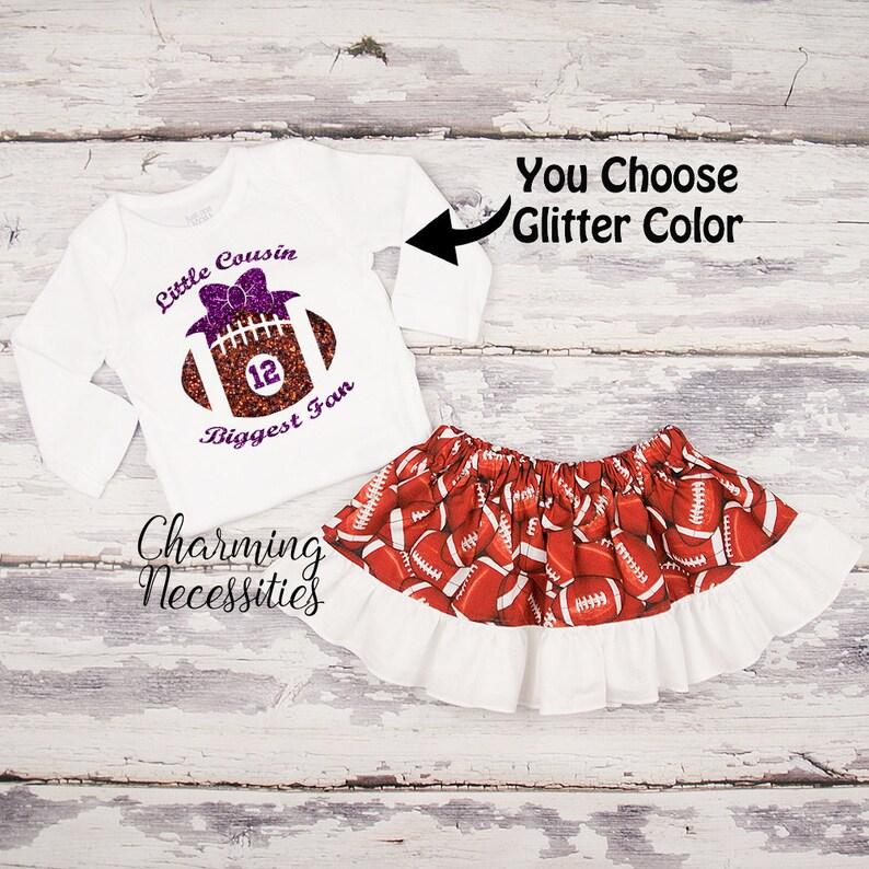 685257b35694 Football Cousin Outfit Football Shirt Football Skirt Baby