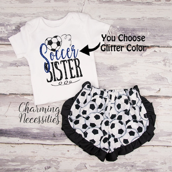 on sale 29837 97834 Soccer Sister Outfit Toddler Girl Soccer Outfit Soccer   Etsy