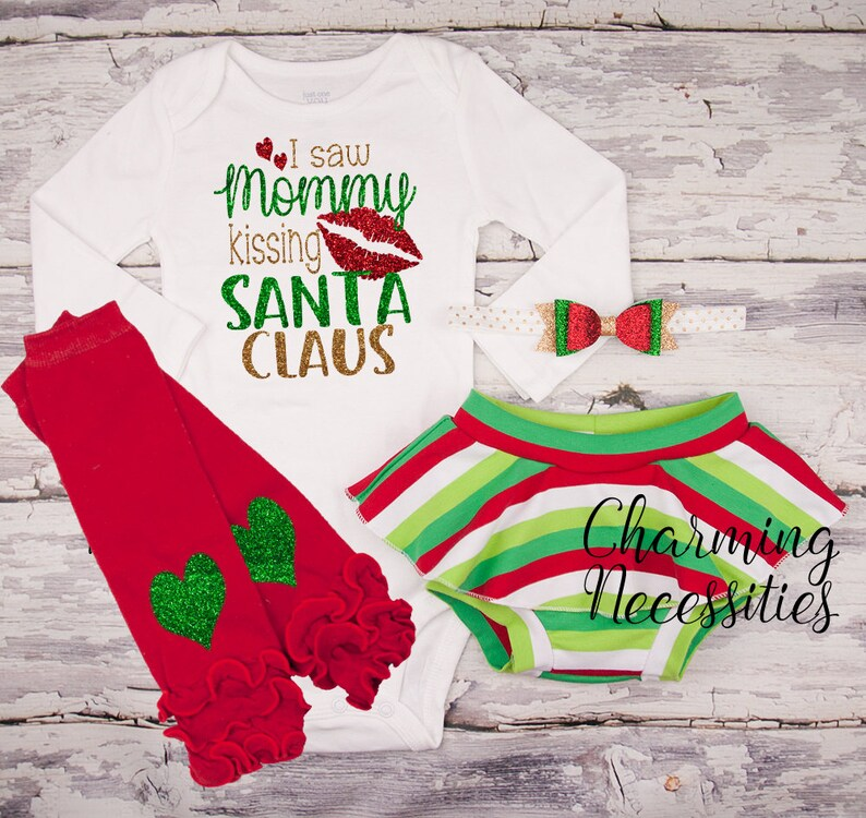 673831f9d Baby Girl Christmas Outfit My First Christmas Newborn | Etsy