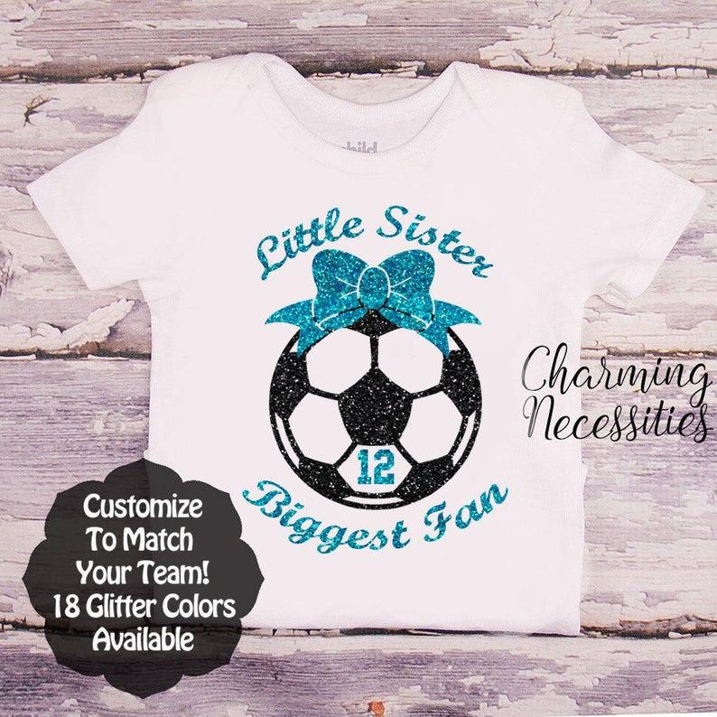 01e9ddb98738 Soccer Sister Shirt Fan Toddler Girl Clothes Baby Girl