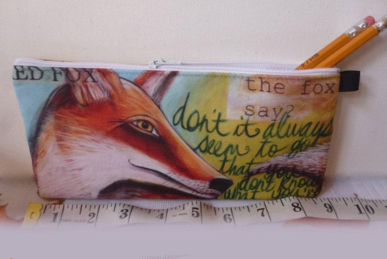 Pencil Case 9 x 4 Red Fox wallet