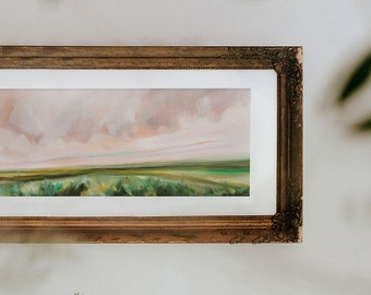 Softness All Around, Fine Art Print Reproduction of a Landscape Painting by Emily Jeffords