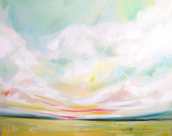 Find A Sunnier Place, Fine Art Print Reproduction of a Landscape Painting by Emily Jeffords