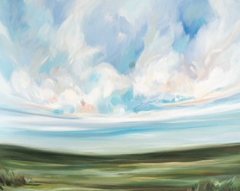 You Are Always Growing No. 2, Fine Art Print Reproduction of a Landscape Painting by Emily Jeffords