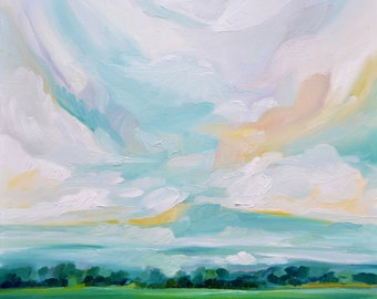 To The Stillness, Fine Art Print Reproduction of a Landscape Painting by Emily Jeffords