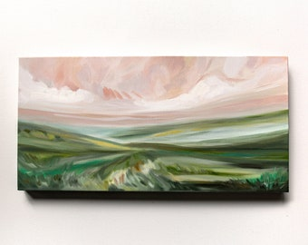 After Golden Hour, Fine Art Print Reproduction of a Landscape Painting by Emily Jeffords