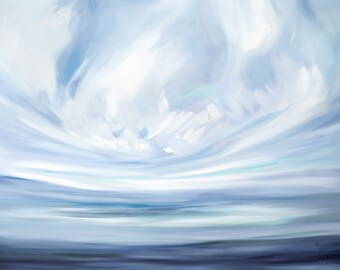 Expanse & Peace, Fine Art Print Reproduction of a Landscape Painting by Emily Jeffords