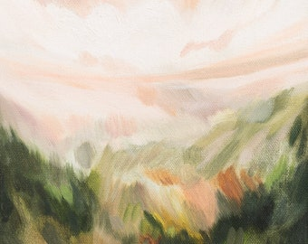 Lush Fields, Fine Art Print Reproduction of a Landscape Painting by Emily Jeffords
