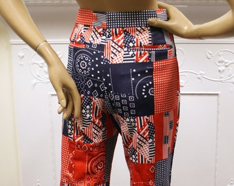 Colours 1960/'s-1970/'s-Glam Rock-Woodstock-Wide Flared Hippy Trousers All Sizes